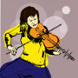 Illustration of a Cellist — Imagen vectorial