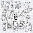 Mobile Phones and Other Devices — Imagen vectorial