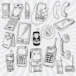 Mobile Phones and Other Devices — Imagens vectoriais em stock
