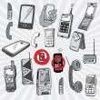 Mobile Phones and Other Devices — Vector de stock #30844665