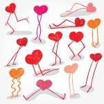 Funny Hearts — Stock Vector #30845011