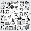 Collection of Doodled Icons — Stock Vector