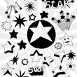 Many Doodled Stars — Stock Vector