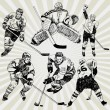 Hockey Players — Stock Vector