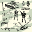 Stock Vector: Military Things