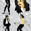 Stock Vector: Michael Jackson