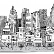 Sketch of New York — Stock Vector #30845801