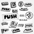 Push Buttons — Stock Vector
