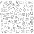 Simple Internet Icons — Stock Vector