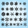 Snowflakes Hand Drawn — Stock Vector