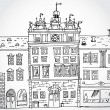 Illustration of Cozy Street — Vecteur #30846421