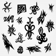 Set of Tattoos — Stock Vector