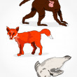 Realistic Animals — Stock Vector