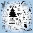 Christmas Doodles — Stock Vector