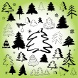 Christmas tree symbols — Stock Vector