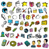 Collection of internet icons — Stock Vector