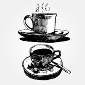 Чашка кофе — Cтоковый вектор