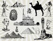 Egyptian Set — Stock Vector
