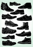 Men's Shoes Outline — 图库矢量图片