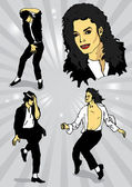 Michael Jackson — Stock Vector