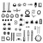 Dj Mixer Buttons — Stock Vector