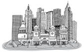 Sketch of New York — Stock Vector