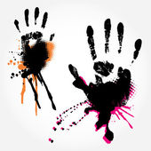 Grange Hand Prints — Stock Vector