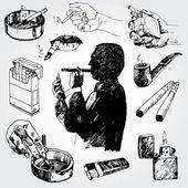 Smoking Theme — Stock Vector
