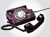Retro Telephone Colorful — Vettoriale Stock