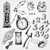 Some Time Doodles — Stock Vector