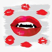 Vampire Lips — Stock Vector