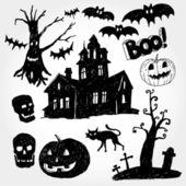 Halloween Stuff — Stock Vector