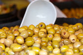 Market marinated olives — Stock Photo