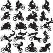 20 images of sportsmen of motorcyclists — Stock Vector #33601085