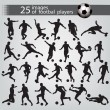 25 images of football players — Stock Vector