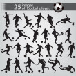 25 images of football players — Imagen vectorial
