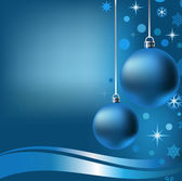 2 New Year's balls — Stock Vector