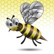 The amusing vector image of a bee — Stock Vector