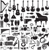 60 images of musical instruments — Stock Vector