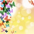 Vector beautiful with colorful butterflies and bubbles — Stock Vector #49072769