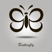 Vector icon with butterfly — Stock Vector