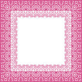Tablecloth border pattern — Stock Vector