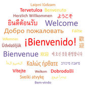 Welcome in different languages. — Stock Vector
