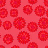Een abstracte bloem patroon naadloze achtergrond. — Stockvector