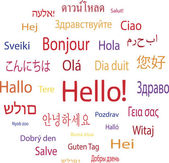 Hello word in languages of the world — Stock Vector