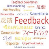 Feedback in different languages. — Vector de stock