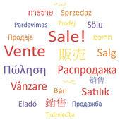 Tag cloud eller pratbubbla: försäljning. — Stockvektor