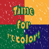 Time for recolor! — Stock Vector