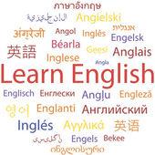 Learning English — Vector de stock