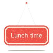 Dags för lunch — Stockvektor